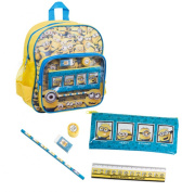 New Boys Kids Latest Minions Backpack With Stationery Tom Jerry Stuart Phil