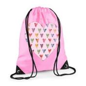 Girls Swim Bag, Pink Gym Bag, Girls PE bag, Sugar Hearts Bag