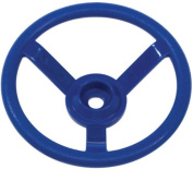Blue Plastic Round Steering Wheel - Garden Toy - Climbing Frame / Playhouse Accessory