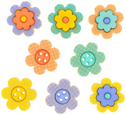 Dress It Up 8370 Buttons, Printed Posies