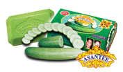 Asantee Natural Herbal Soap Cucumber with Honey (135g), Thailand