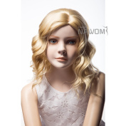 Kolight® Children Kids Girls Fashion Exquisiteness Cute Short Blonde Colour Curly Hair Extensions Wig Free Cap+ Comb
