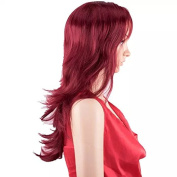 TECH-P Women Wigs Middle Curly Fashion Graceful Lady Full Wig +Wig Cap