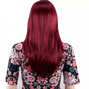 TECH-P 60cm Long Soft Wavy Healthy Hair Party Full Wig+wig Cap