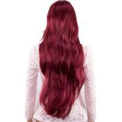 TECH-P Lady's Long Big Wavy Reddish Brown Women's Simplicity Charming . Wig