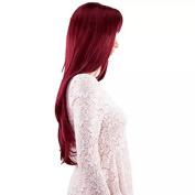 TECH-P Long Hair Heat Resistant Spiral Women Curly Wig-Dark Red