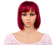 TECH-P Short Straight Bob Sexy . Heat Resistant Sythetic Hair Wig Red Copper