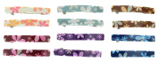 Making Waves Womens Floral Hair Barrettes (12 Piece Set) 6.4cm