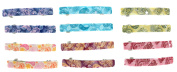 Making Waves Womens Paisley Hair Barrettes (12 Piece Set) 6.4cm Long