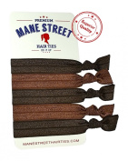 Elastic Hair Ties (BRUNETTE) ★ ! ★ Perfect For All Hair Colours From Blonde To Brown To Black And Everything In Between - Best Colour Choices Available - Prevents Ponytail Holder Headache - Heat Sealed Ends For No Fray - Holds Bet ..