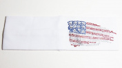 Rhinestone USA American Flag White Cotton Headwrap Headband Patriotic