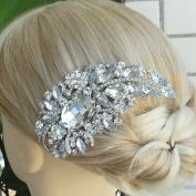Sindary Silver-Tone Clear Rhinestone Crystal Bridal Hair Comb Flower Headpiece Wedding Jewellery