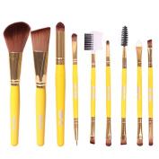 9Pcs Blush Lip Makeup Eyebrow Eyeliner Brush Set Cosmetic Tool Beauty Brushes