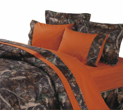 HiEnd Accents Hunter's Sheet Set, Full, Orange
