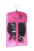 Suit Case Package with Hanger for Virgin Hair Extensions & Clip In Hair Extensions Storage