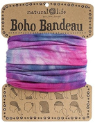 Natural Life Bandeau Tie Dye Band, Pink/Blue/White