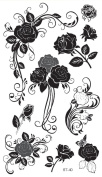 Supperb® Temporary Tattoos - Tribal Black Roses