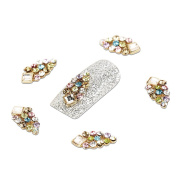 YESURPRISE New Trendy 10 Alloy 3D Colourful Crystal Rhinestone Nail Art Cute Glitter DIY Decoration Fashion Gift Style 17