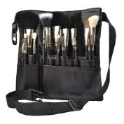 Hotrose® 22 Pockets Professional Cosmetic Makeup Brush Bag with Artist Belt Strap for Women
