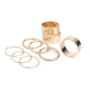 Sealike 9PCS Gothic Stack Rings Plain Above Knuckle Midi Finger Band Rings Joint Mid Ring Set Tip Stacking Rings with a Stylus