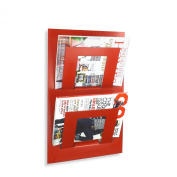 Wall Mounted Two Tier Magazine Newspaper Storage Rack By The Metal House