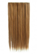3/4 Full Head Clip in Hair Extension NOT Human Hair One Piece 5 Clips