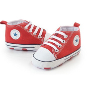 Prewalker Infant Sweet Canvas Sneaker Anti-skid Soft Shoes Trainer Red