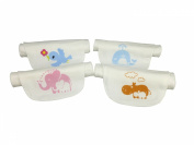 TSING 4 Layers Pure Cotton Baby Sweat Absorbent Towel Organic Cotton Baby's Wicking Towel-4 Pieces/Cetacea & Bird & Elephant & Hippo