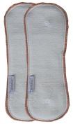 Buttons Hemp/Organic Cotton Nappy Inserts - Nighttime - 2 Pack