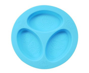 oogaa Silicone Baby and Toddler Divided Plate - Blue