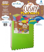 EnviUs Cushy Plus Play Mat Rainblow 6 : Formamide Free Ultra Thick & Large 6 Pieces (6 Colours) 60cm x 60cm x 1.4cm