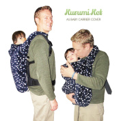 #1 Baby Carrier Cover ADJUSTABLE with Hoodie, DOUBLE winter FLEECE attaches quickly and easily to baby carriers. Multi-Use 5-in-1 stroller cover, nursing cover, poncho & blankie! Kurumi Ket