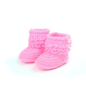 Elee Baby Toddlers Handmade Crochet Knit Booties Soft Sole Shoes Socks Sandals with Tassels