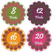 Belly Bump Stickers Momma To Be Pregnancy Stickers Belly Stickers Mama To Be Stickers Peacock Flower Flowers Petals Scalloped