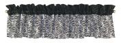 Trend Lab Window Valance, Black/White Zebra Print