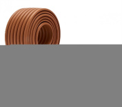 Generic DIY Baby NBR Safety Protector Table Edge Softener Brown 200cm *7.6cm 2pcs