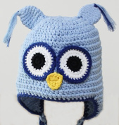 Newborn Baby Knit Cotton Hat Handmade Beanie Owl Cap