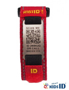 SmartKidsID Child ID/Medical ID bracelet using QR Codes. No engraving necessary, unlimited editing!