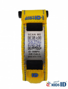 SmartKidsID Child ID/Medical ID bracelet using QR Code - No engraving necessary! Unlimited editing!