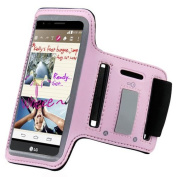 ArmBand Workout Case Cover For LG LS770 Stylus /G Stylo Baby Light Pink