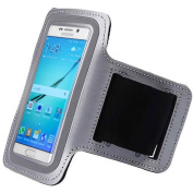 ArmBand Workout Case Cover For for Samsung Galaxy S 6 S6, S6 Active, S6 Edge Silver