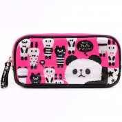 cute pink panda alpaca plastic pencil case from Japan