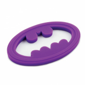 Bumkins Dc Comics Silicone Teether, Batman Purple