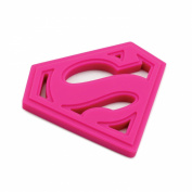 Bumkins Dc Comics Silicone Teether, Superman Pink