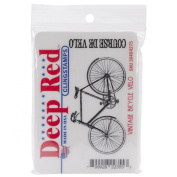 Deep Red Stamps Vintage Bicycle Velo Rubber Stamp
