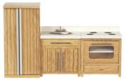 Dollhouse Rustic Oak Kitchen Set