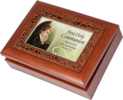 Cottage Garden Boys First Holy Communion Religious Music Box Plays Friend We Have in Jesus