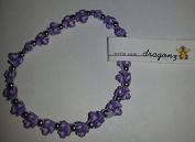 The trrtlz - DRAGONZ Purple Charm Bracelet