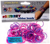 Rubbzy 100 pc Tie Dye/Glitter Rubber Bands w/ 4 Connectors  [Special Edition]