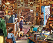 White Mountain Puzzles Old Book Store Jigsaw Puzzle